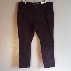 NWT Universal Threads wine colored pants, sz 20w